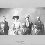 For their 25th reunion, members from the class of 1883 pose for a formal photo, 1908.