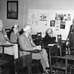 Still a few seats available at Prof. Karl Woodcock's lecture, Alumni College, 1952.