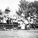 Take me out to the ballgame—spectators enjoy the freshmen-sophomore baseball game, 1895.
