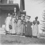 Cheney girls clean-up brigade, circa 1897.