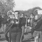 Real coordination—marching and playing at the same time (Marching Band, 1968).