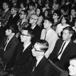 Class of 1969 listens attentively during freshmen convocation