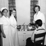 College's own Florence Nightingales—Infirmary staff, 1959.