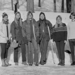 Women skiers ready to hit the slopes, 1970-71.