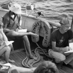 Bates students learn afloat as part of the Mystic Seaport Program. Photos provided by The Edmund S. Muskie Archives and Special Collections Library.