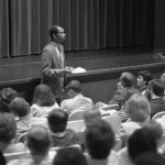 Freshmen orientation with James Reese, assistant dean, 1986.