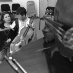 This little fellow is learning the cello, Suzuki Program, 1998.
