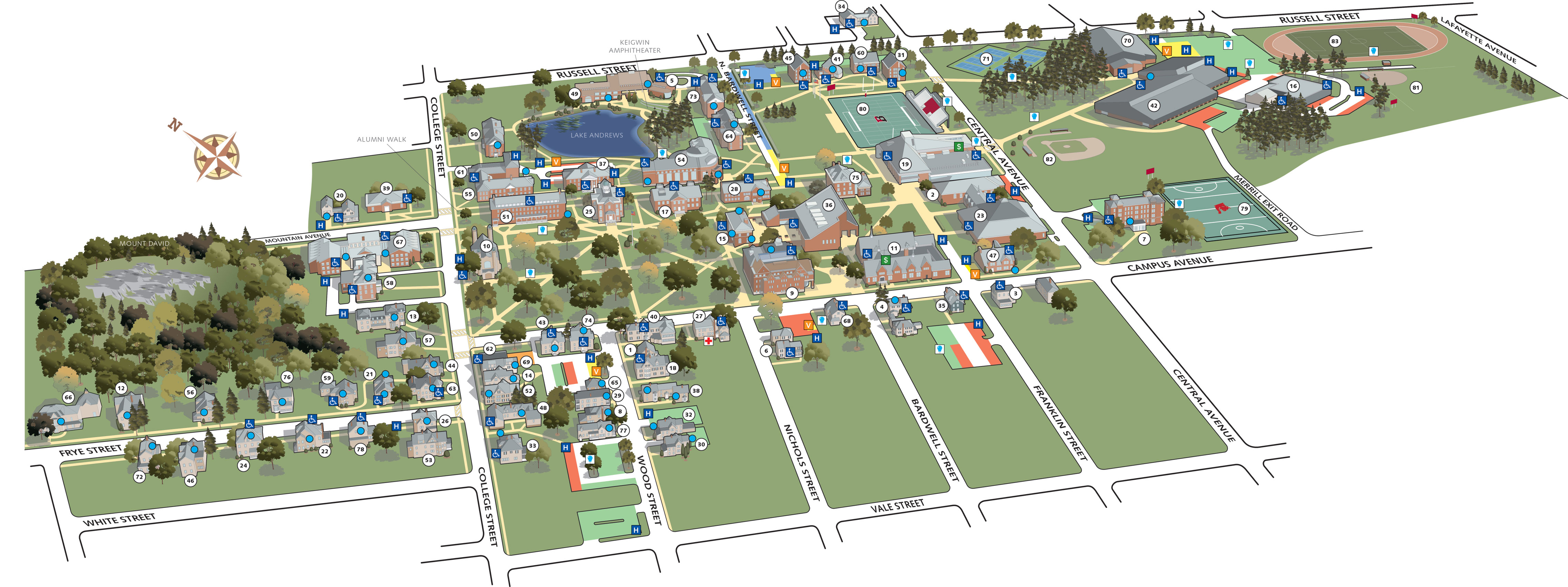 All about Campus Map Bates College   kidskunst.info