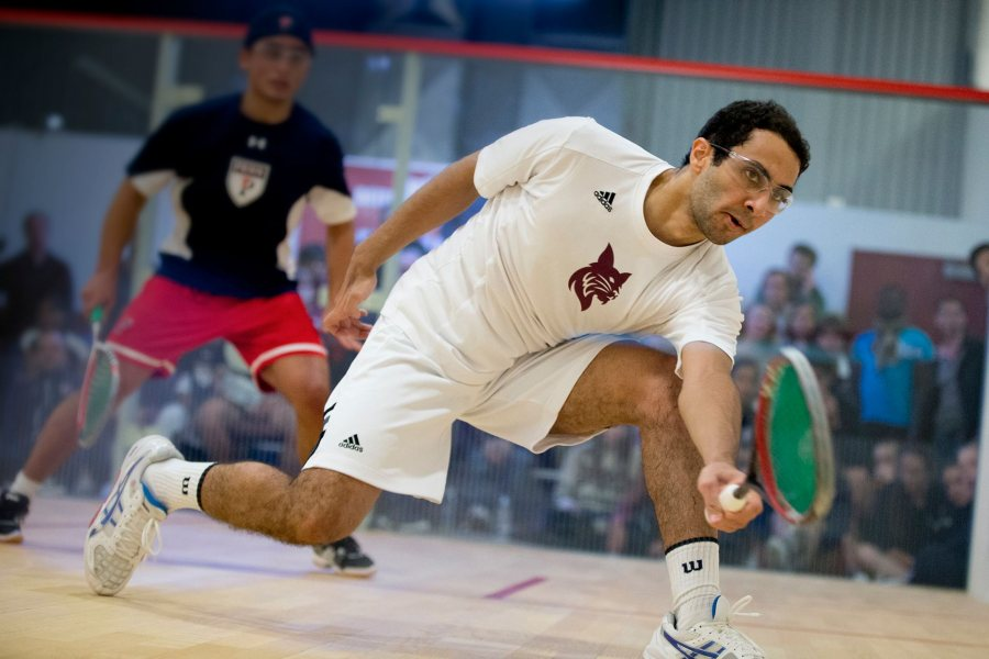 Bates' Ahmed Abdel Khalek won the College Squash Association men's 2015 individual national championship.