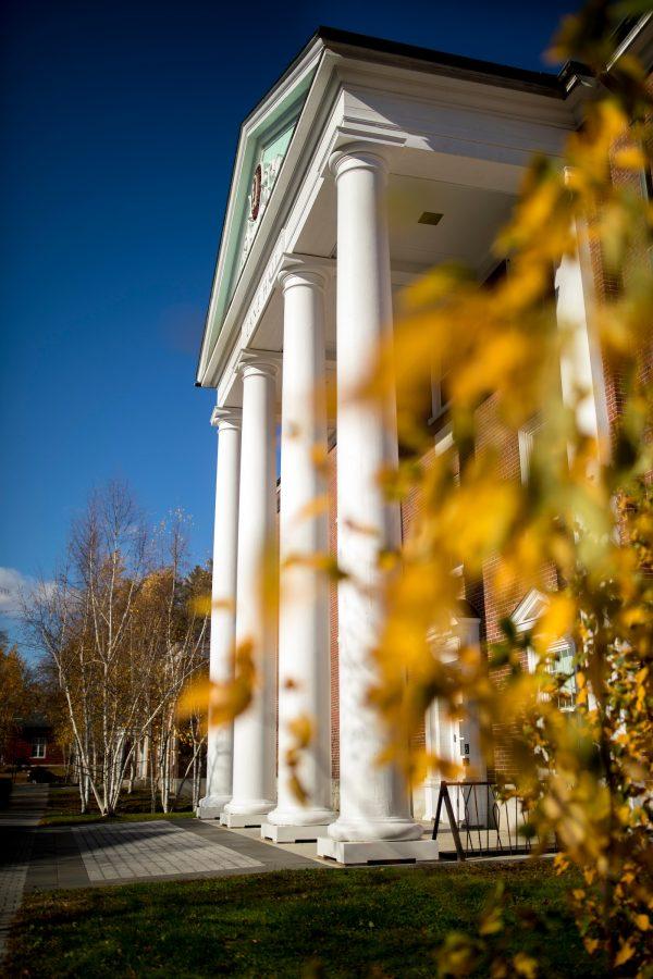 Fall foliage on the Bates campus  Lane Hall