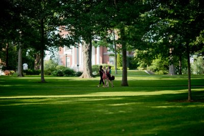 Late summer afternoon on the Historic Quad.