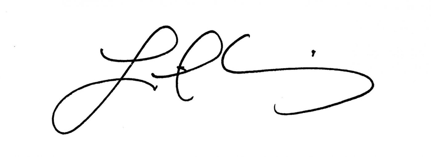 Leigh Weisenburger signature