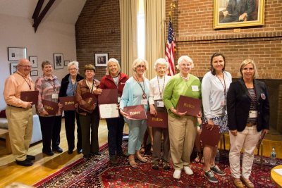 College Key members gather for their annual meeting in the Muskie Archives