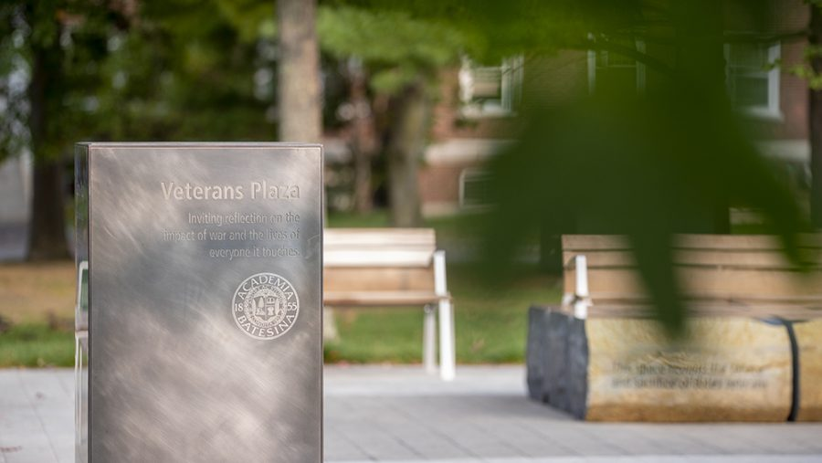 Campus scenes on Tuesday, Sept. 15, 2020.  Veterans Plaza in the early morning.