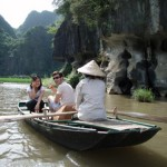 Rowboat ride through caves outside of Hoa Lu, the first capital.