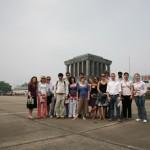 Visiting Ho Chi Minh's Mausoleum.