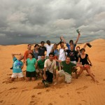 Bates students enjoying an evening at Sand Dunes, Mui Ne, Phan Thiet.