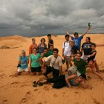 Visting the Sand Dunes, Mui Ne. Bates Students enjoying the scenery.