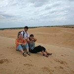 Visting Sand Dunes, Mu Ne. Prof. Trian, Kendall and Thao.