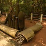 Visting Cu Chi Tunnels, unexplosive bombs.
