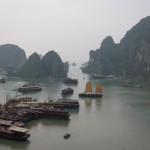Stunning, beautiful view of Ha Long Bay.