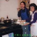 "Grace Eng '98, making ""tenpura"" (veg. tempura), December 5, 1997 JPN101~401 Party"