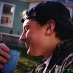 "Tayven Hike '99, eating""umeboshi"" (plum pickles) for the first time, May 8, 1997, JPN 102~402 Party"