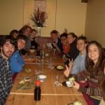 Fall 05 at Sapporo Restaurant ( Clockwise from the left: Mike, Andy, Ofuji-sensei, Matt, Stephanie, Chris, Ken, Alicia, Ian, Kaitlyn, Katanosaka-sensei)