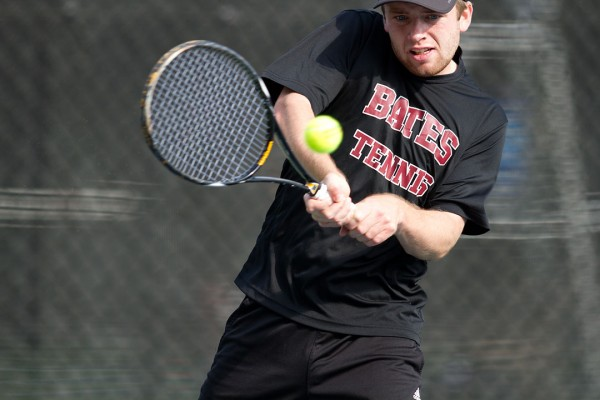 Matt Bettles '13 earned Academic All-District distinction from the College Sports Information Directors of America on May 17, 2013. File photo by Michael Bradley/Bates College.