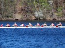 Men's rowing fourth out of 24 teams at New Englands