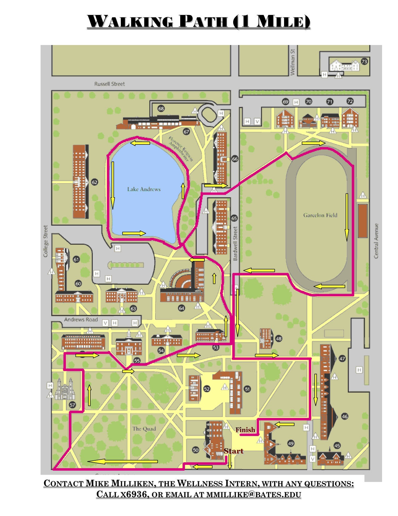 bates college campus map Walking Routes B Well Bates College bates college campus map