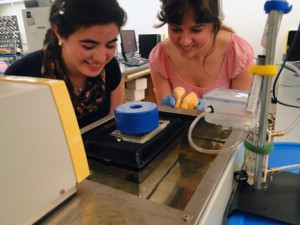 Animal physiology (Bio 337) students conducting an experiment to measure the effect of temperature on the metabolic rate of mice.r