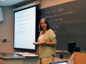 "Visiting Asst. Professor Stephanie Richards has been on the forefront of bringing innovative teaching strategies into the Biology curriculum. In fall 2014, she is using the ""flipped classroom"" pedagogy to teach Cellular and Molecular Biology- Bio 242."