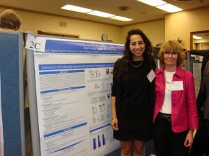 "Mariam Alam '10 with Karen Palin at CUR's ""Posters on the Hill"" conference in Washington, DC in 2010."