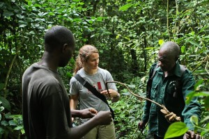 Rachel Ellis discusses how snares are identified on patrols with the KSRP team.