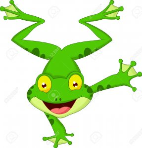 23007393-Funny-frog-cartoon-standing-on-its-hand--Stock-Vector-animal