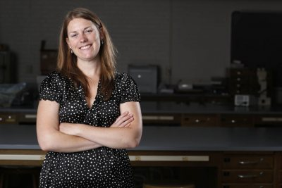 Larissa Williams, Assistant Professor of Biology, poses for a photo on June 20, 2013.