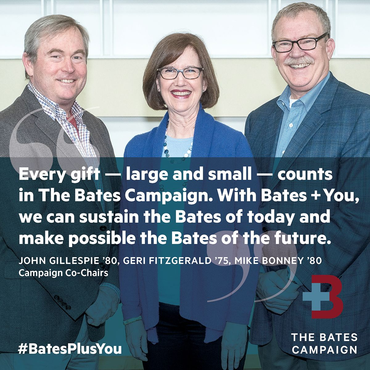 Celebrate the launch of The Bates Campaign and show your support by sharing #BatesPlusYou images and video on social media!