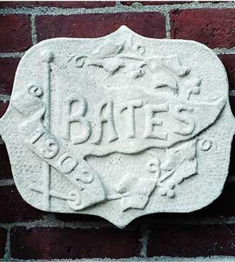 The 1902 ivy stone is on Hathorn Hall facing Dana Chemistry Hall.