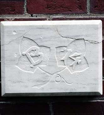 The 1914 ivy stone is on Carnegie Science Hall facing the Historic Quad.
