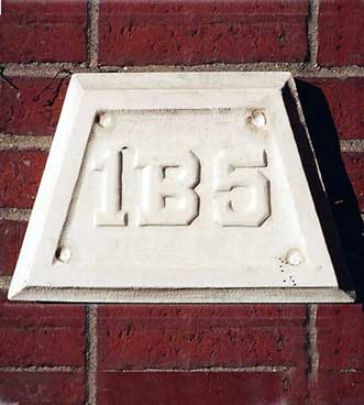 The 1915 ivy stone is on Carnegie Science Hall facing the Historic Quad.