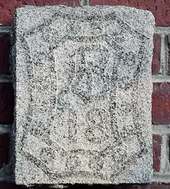 The 1918 ivy stone is on Carnegie Science Hall facing the Historic Quad.