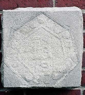 The 1919 ivy stone is on Carnegie Science Hall facing the Historic Quad.