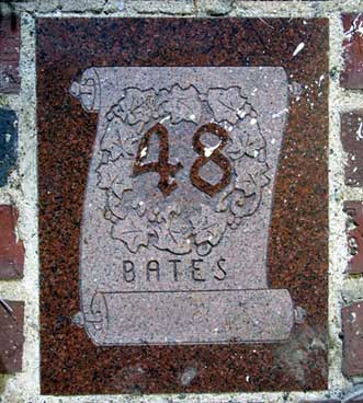 The 1948 ivy stone is on Smith Hall facing Pentengill Hall.