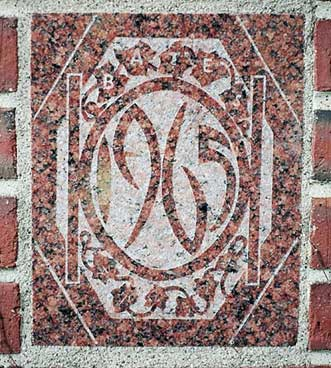 The 1965 ivy stone is on Carnegie Science Hall facing Chase Hall.