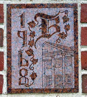 The 1968 ivy stone is on Carnegie Science Hall facing Chase Hall.