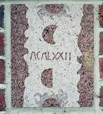 The 1972 ivy stone is on Dana Chemistry Hall facing the Historic Quad.