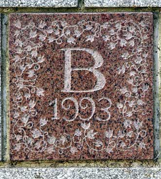 The 1993 ivy stone is on Carnegie Science Hall closest to Chase Hall.
