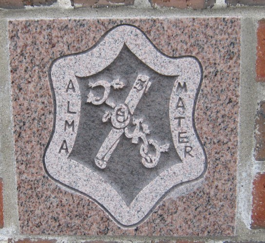 The 2010 ivy stone is on the Alumni Walk side of Pettengill