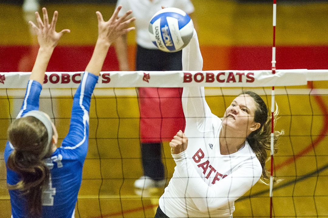 Last year, Bates Volleyball rode its first win over Middlebury since 2003 into a second straight appearance in the NESCAC playoffs. Chandler McGrath '17 of Seal Beach, Calif. (pictured) was named NESCAC Volleyball Player of the Week for the second time in her career, tallied her 1,000th career point in a late October win over Hamilton, and became Bates' first All-NESCAC player since 2004. We aim to build on this success in the 2017–18 season. With your help, we can achieve our goals.